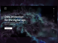 T Data - UI landing page concept xparticles cinema 4d 3d product page ui ui design adobe xd