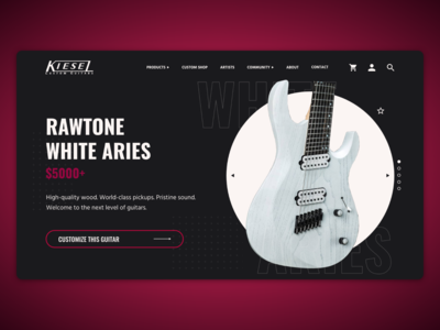 Kiesel Guitars UI Mockup [1/4]