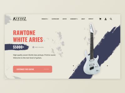 Kiesel Guitars UI Mockup [2/4]