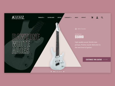 Kiesel Guitars UI Mockup [3/4]