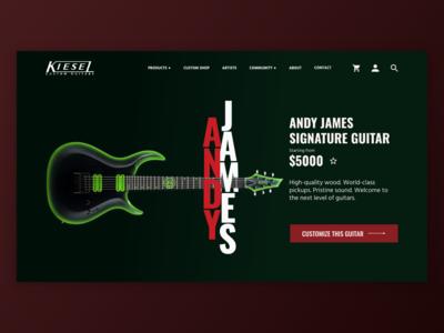 Kiesel Guitars UI Mockup [4/4]