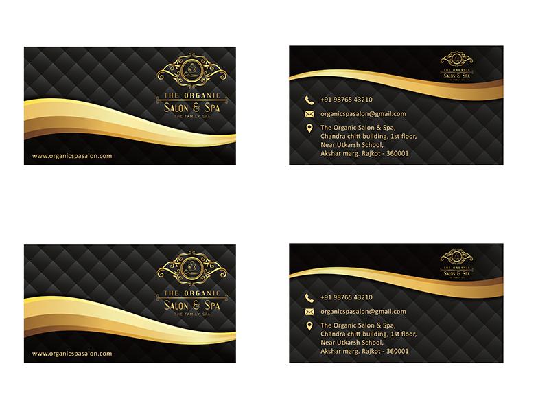 The Organic Salon Spa Business Card 3 by Chiman Jadav - Dribbble