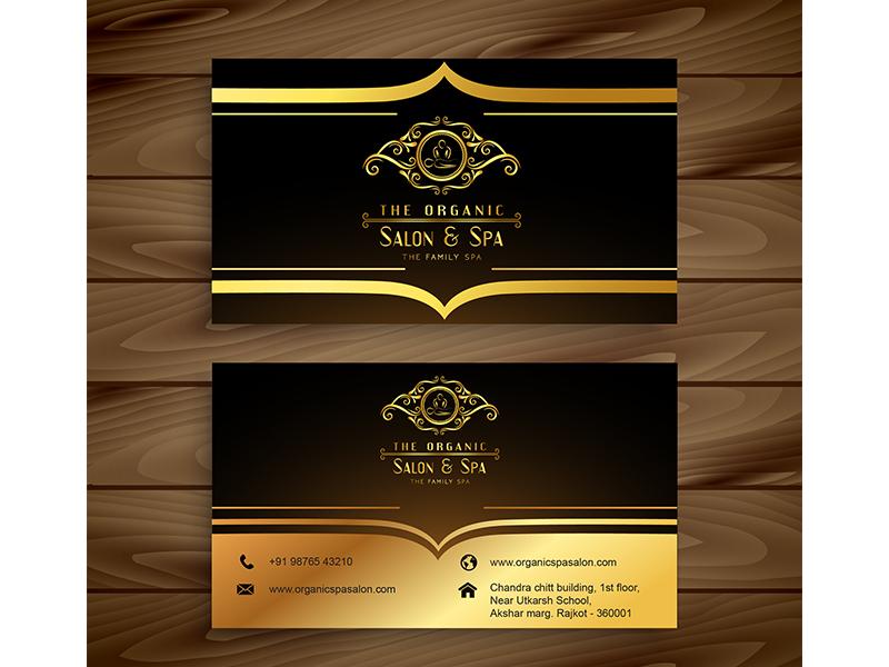 the organic salon spa business card 2 - Spa Business Cards