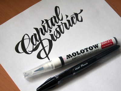 Capital District sketch #1 lettering artist calligraphy artist evgeny tkhorzhevsky calligraphy and lettering artist hand lettering logo lettering logo calligraphy logo et lettering calligraphy logo font type