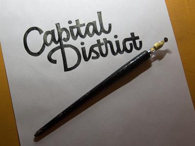 Capital District sketch 3 calligraphy artist evgeny tkhorzhevsky calligraphy and lettering artist hand lettering logo lettering logo calligraphy logo type font et lettering etlettering calligraphy logo