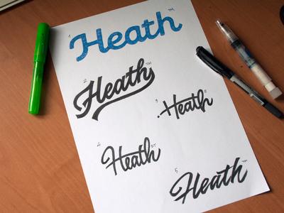 Heath Pathfinder lettering artist calligraphy artist evgeny tkhorzhevsky calligraphy and lettering artist hand lettering logo lettering logo calligraphy logo type font logo calligraphy et lettering