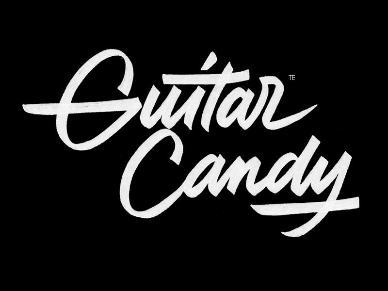 Guitarcandy calligraphy logo by evgeny tkhorzhevsky dribbble