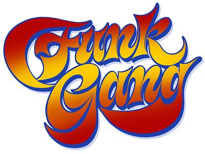 Funk Gang branding lettering artist calligraphy artist etlettering hand lettering logo calligraphy logo lettering logo calligraphy and lettering artist logo calligraphy