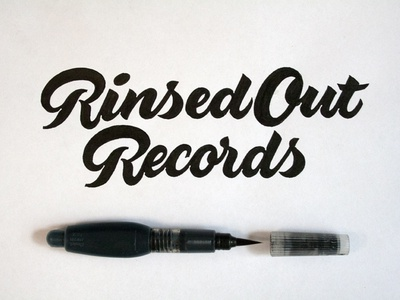 Rinsed Out Records et lettering calligraphy logo font type calligraphy logo lettering logo hand lettering logo calligraphy and lettering artist evgeny tkhorzhevsky calligraphy artist lettering artist