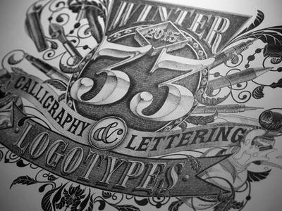 Winter 33 lettering artist calligraphy artist evgeny tkhorzhevsky calligraphy and lettering artist hand lettering logo lettering logo calligraphy logo type font logo calligraphy et lettering