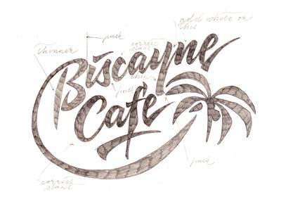 Biscayne Cafe revision lettering artist calligraphy artist evgeny tkhorzhevsky calligraphy and lettering artist hand lettering logo lettering logo calligraphy logo type font logo calligraphy et lettering