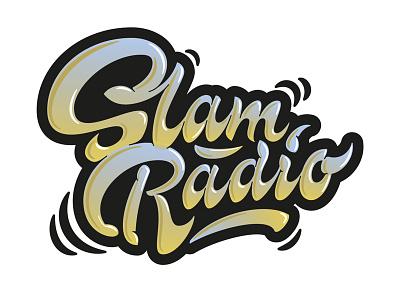 Slam Radio lettering artist calligraphy artist evgeny tkhorzhevsky calligraphy and lettering artist hand lettering logo lettering logo calligraphy logo type font logo calligraphy et lettering