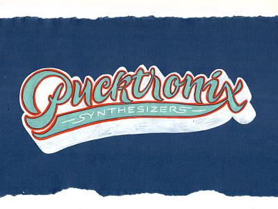 Pucktronix et lettering calligraphy logo font type calligraphy logo lettering logo hand lettering logo calligraphy and lettering artist evgeny tkhorzhevsky calligraphy artist lettering artist