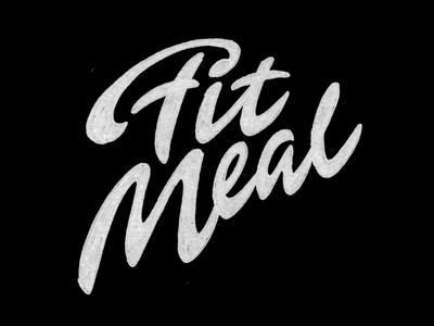 Fit Meal et lettering calligraphy logo font type calligraphy logo lettering logo hand lettering logo calligraphy and lettering artist evgeny tkhorzhevsky calligraphy artist lettering artist