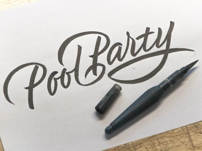 Pool Party lettering artist calligraphy artist evgeny tkhorzhevsky calligraphy and lettering artist hand lettering logo lettering logo calligraphy logo type font logo calligraphy et lettering