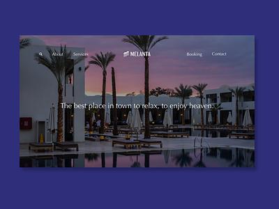 Melanta hotel landing page resort hotel ui web design ui design landing page web design vietnam