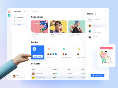 Online collaboration management APP uidesign web design ui