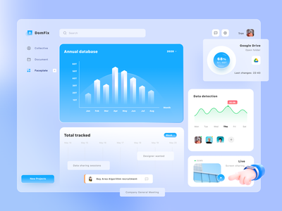 Domfix data customization platform uidesign ui webdesign