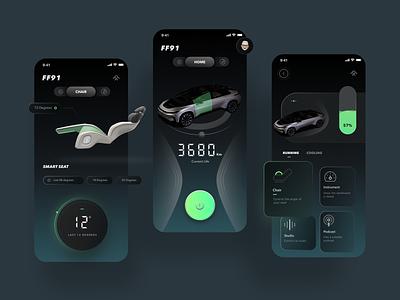 Conceptual App designed for FF91 conceptual design faraday future car ff91 car design 品牌 uidesign ui