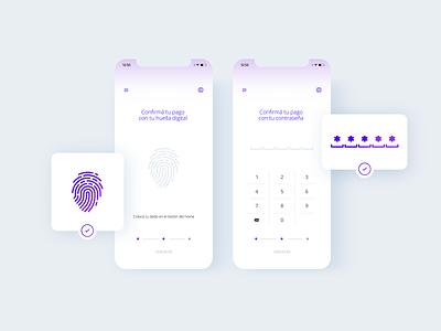 Verify Transactions UI ui transactions security fingerprint ui design icons clean app inspiration design ui ux