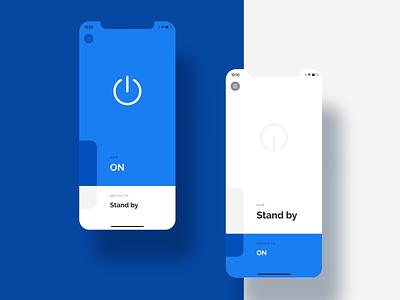 Minimal Switch switcher blue minimal ui ux design mobile app interface design clean mobile inspiration ui ux app ui design design