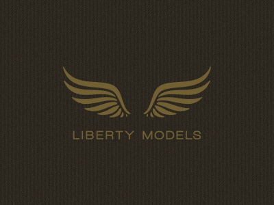 Liberty logo design wings liberty models