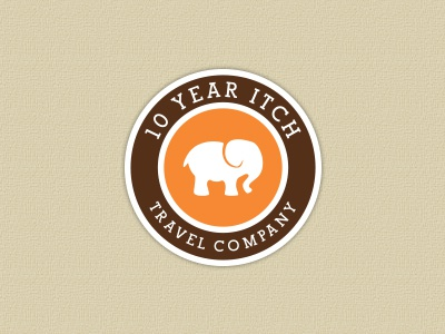 10 Year Itch logo design travel elephant
