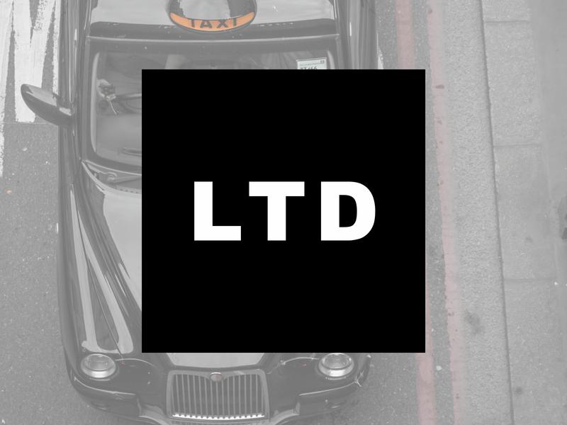London Taxi Driver Branding vector typography branding design logo