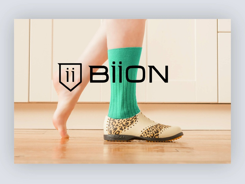 Biion Footwear Launch Campaign marketing product photo typography sport logo branding design
