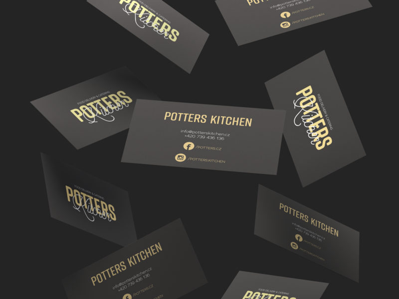 Potters Kitchen Business Cards By Lenka Siva For Justmighty On
