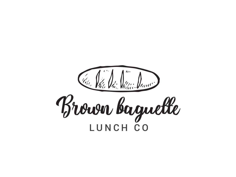 Baguette logo bread brown baguette bakery logo baguette