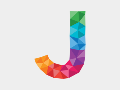 Letter J letter j polygons polygon triangles