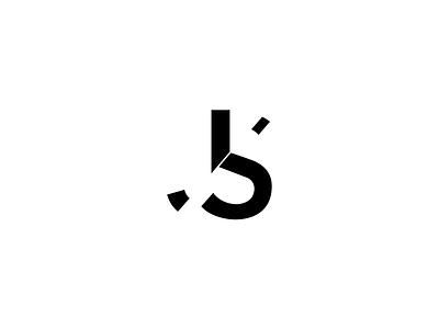 JS Monogram with Separation logo mark monogram letter s letter j js s j