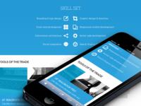 Responsive design for website
