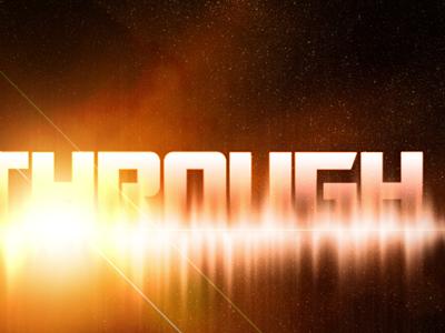 Intergalactic Breakthrough space intergalactic stars typography orange yellow galaxy sci-fi