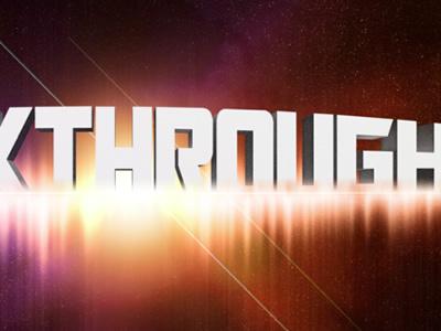 Intergalactic Breakthrough 3D typography yellow galaxy intergalactic orange sci-fi purple space stars 3d