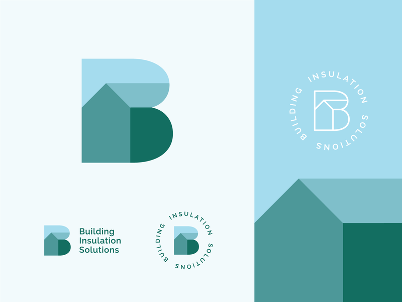 BIS - Building Insulation Solutions Logo Design services logo typography graphic  design b logo logo brand identity design brand identity branding
