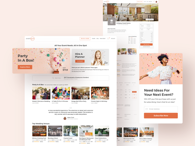 Eventspot - B2B and B2C web application (2017) onboarding ui profile page event app clean creative ui design ux design web application b2c b2b consumer app vendor app event canada event product ui  ux uxdesign uidesign product product design
