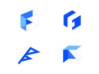 F + blockchain Logo
