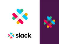 My shot on the Slack logo app colorful rebound heart slack abstract clean logo branding graphic  design creative design