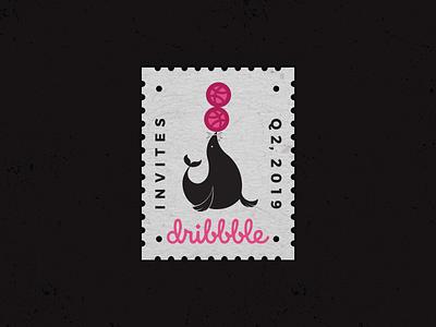 Dribbble Invites seal draft giveaway invite dribbble