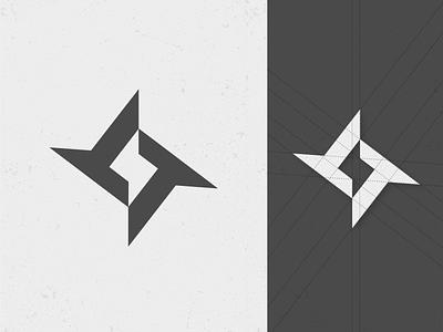 TT + Spark + Ninja Star power black  white flat abstract design graphic  design creative grids ninja star negative space logo spark tt logo
