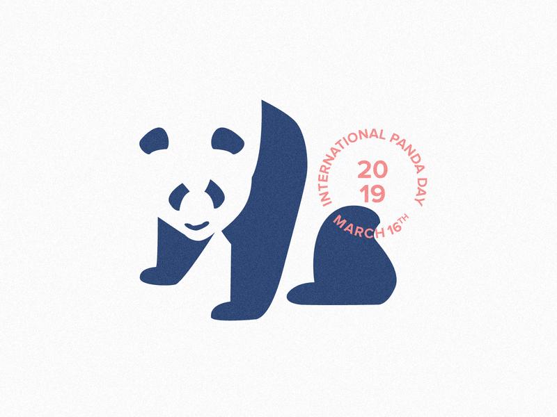 Vanishing Panda (Panda Day 2019 mark) background white icon design character illustration typography logo mark negativespace abstract clean march international awareness panda branding graphic  design creative