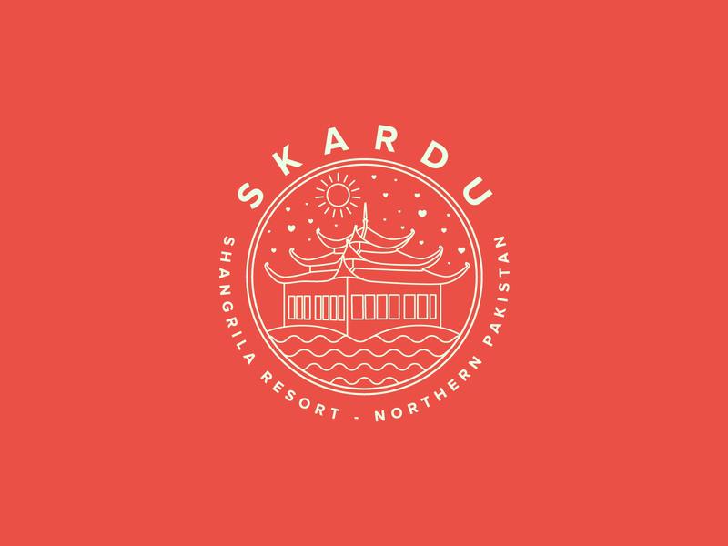 Skardu, Northern Pakistan Sticker dribbbleweeklywarmup pakistan city logo brand identity creative brand design branding