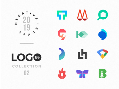 Negative Space Logo Collection at Behance graphic  design texture logodesigner clever logo negative space logo nature logo advertising logo typography law firm logo food logo exploration google concept logo consultancy logo corporate company logo health logo technology logo home logo design logo branding