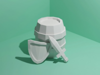 Low poly items - daily modeling practice