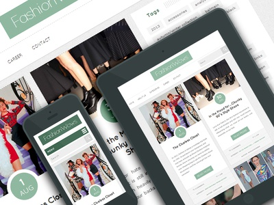 Fashionwows - Wordpress Blog Theme - Design & Sitebuild wordpress fashion fashionwows blog theme responsive fireworks webdesign emerald html css