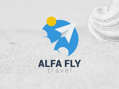 Alfa Fly Travel Logo logo vector illustrator travel fly airplane flat
