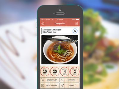 Recipe Manager App WIP ios7 photoshop recipe app