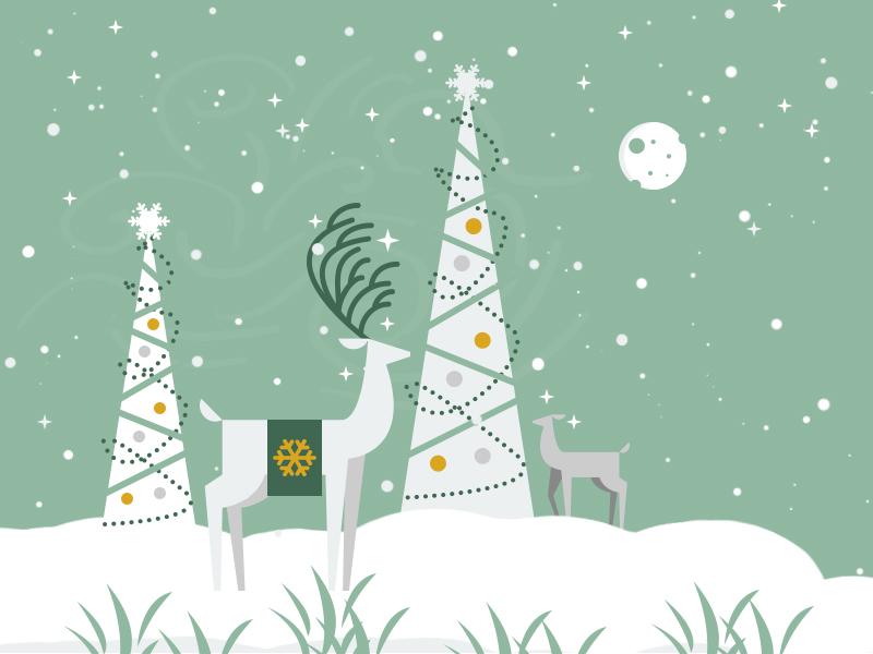 Happy Holidays flat greetings holiday christmas fashionwows illustrator vector